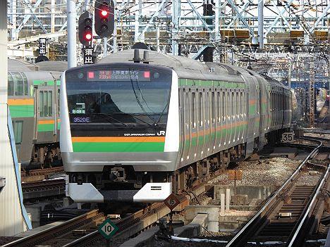 上野東京ライン 宇都宮線内普通 東京経由 快速アクティー古河行き2 E233系