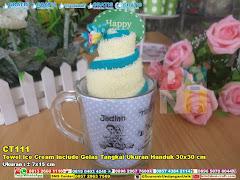 Towel Ice Cream Include Gelas Tangkai Ukuran Handuk 30×30 Cm