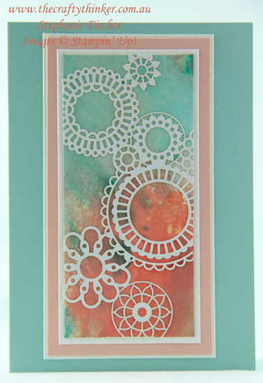 #thecraftythinker  #stampinup  #cardmaking  #delightfullydetailedlasercut , Delightfully Detailed Laser Cut paper, Stampin' Up Australia Demonstrator, Stephanie Fischer, Sydney NSW