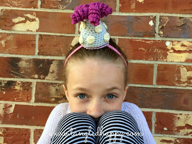 crochet party hat diy headband free pattern