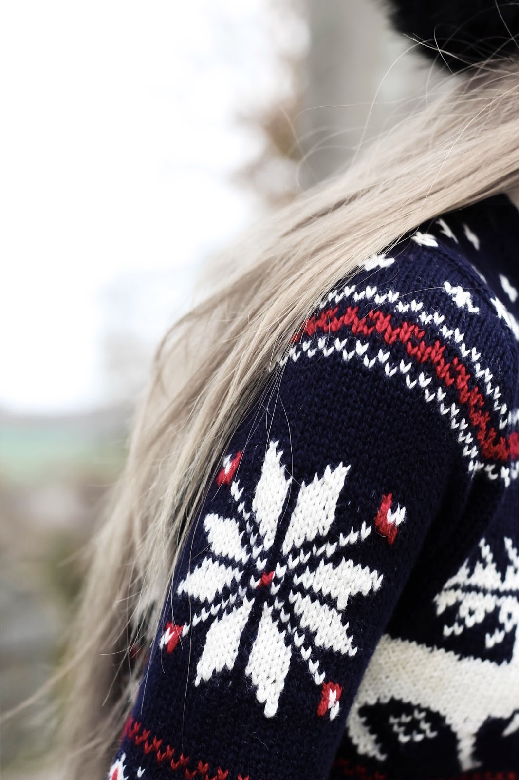 Ralph Lauren Snowflake Reindeer Christmas Jumper