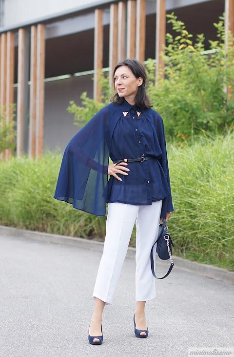 Cape blouse