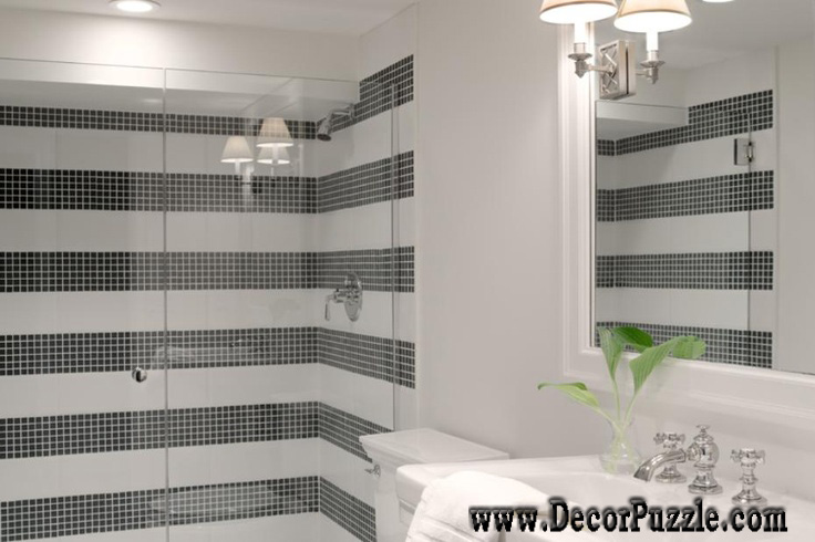 black and white bathroom tile design ideas top shower tile ideas and designs to tiling a shower 25976