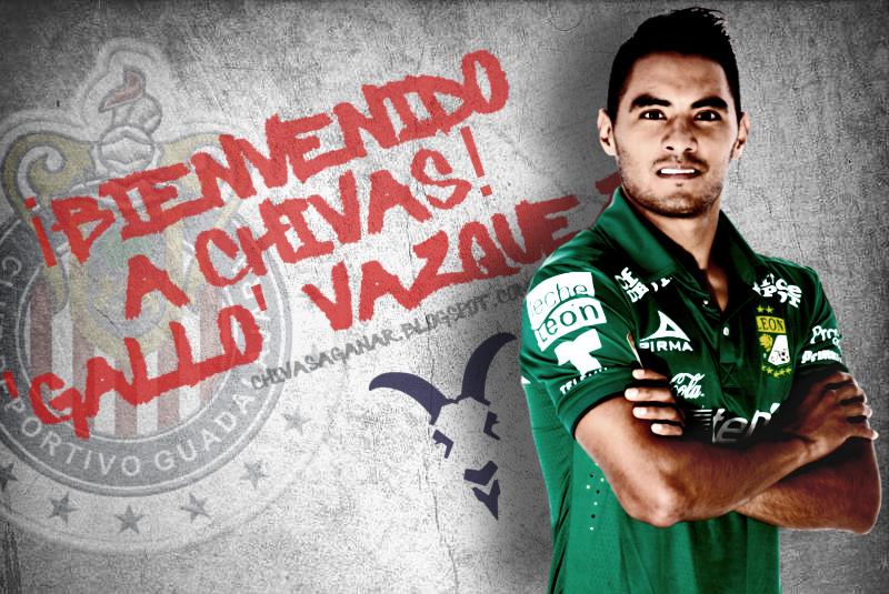 Chivas oficializa la llegada del 'Gallo' Vázquez.