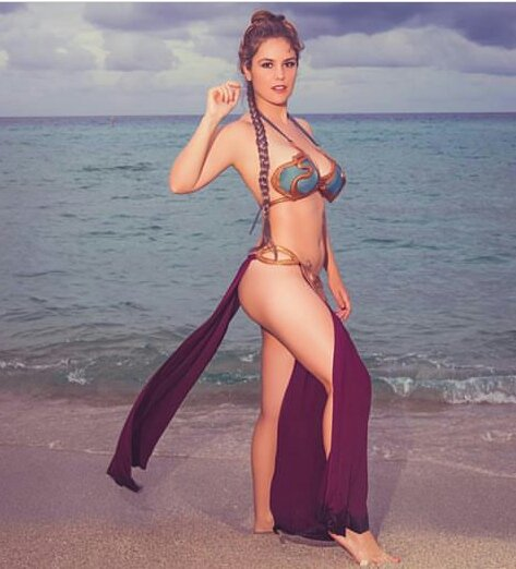 princess leia cosplay bikini costume