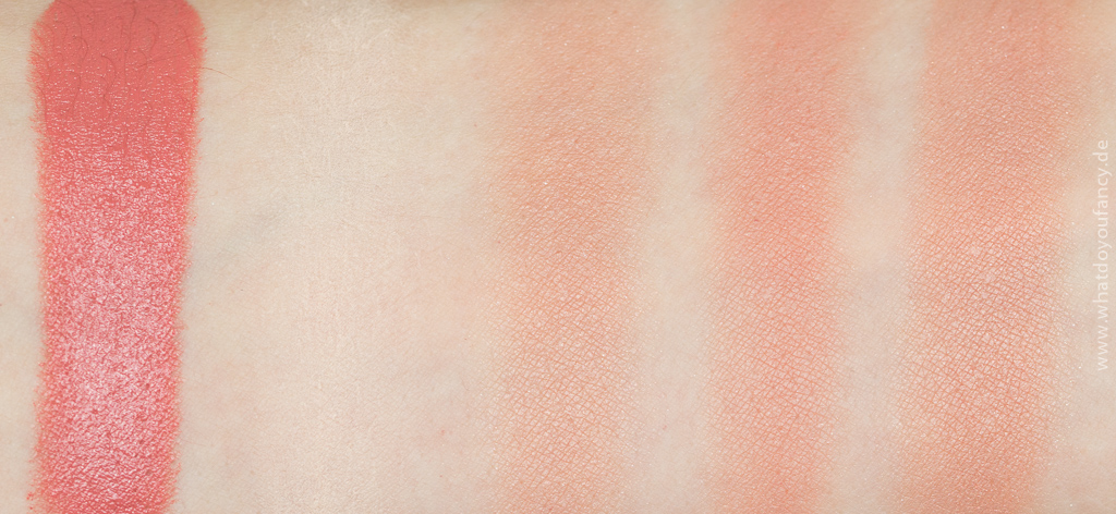 Romantischer Roségold-Look Swatches