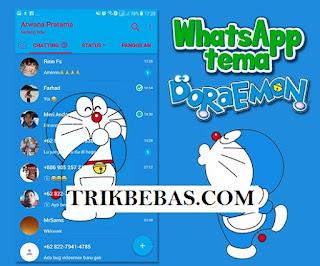 Download, Whatsapp, Tema Doraemon, MOD APK, terbaru, lastest version, 2018, ganti tena whatsapp diraemon, tema doraemon lucu wa, wa doraemon, tema lucu.