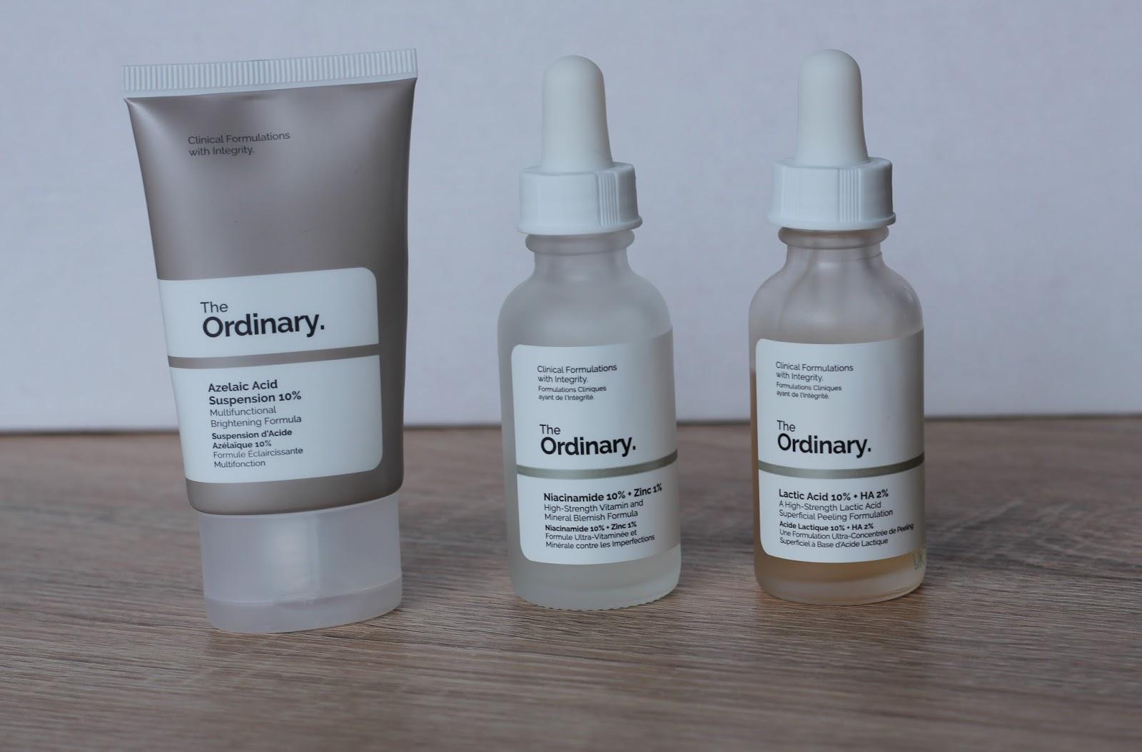 Drie producten van The Ordinary