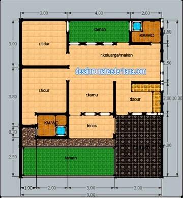 gambar denah rumah luas tanah 120 m2 4