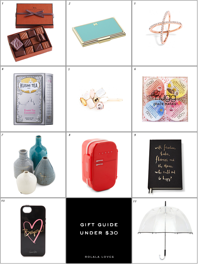 Gift Guide, Under $30 Gift Guide, Gifts Under $30
