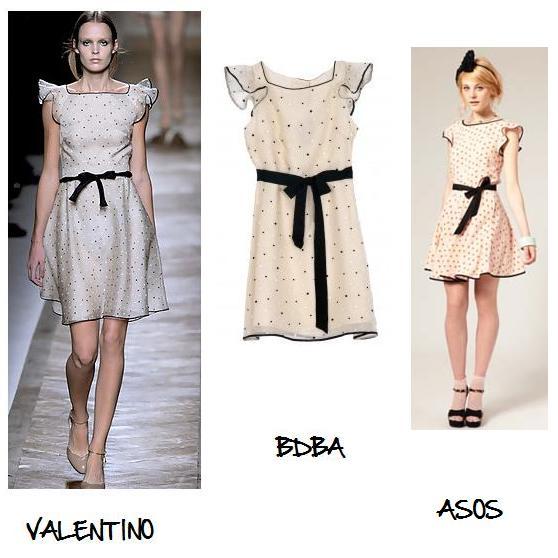 Clones 2011 vestido Valentino BDBA Asos