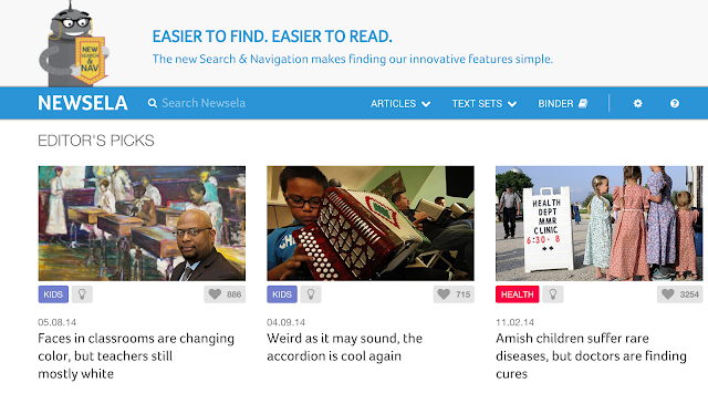 Newsela Online News for kids - Students can read a variety of current events with the apps and websites I've provided. This is great for studying informational text.