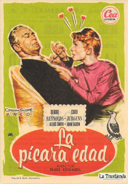 La Pícara Edad - Programa de Mano - Debbie Reynolds - Curd Jurgens