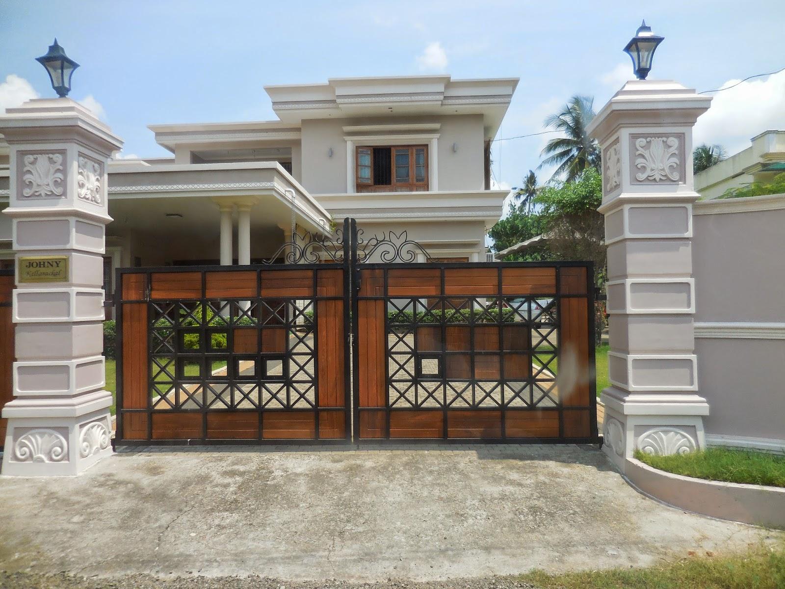 Kerala Gate Designs: A beautiful house gate from Kerala
