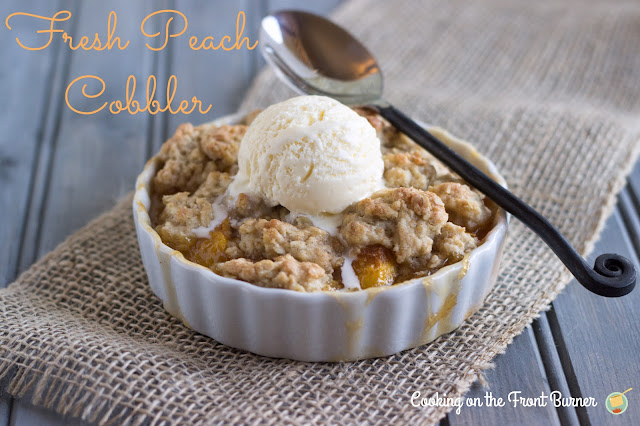 Fresh Peach Cobbler | Cooking on the Front Burner #peaches