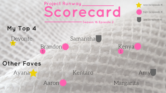 Project Runway Season 16 Episode 2 Recap Scorecard - An Unconventional Recycling (16x02) -- ThatNewMommy