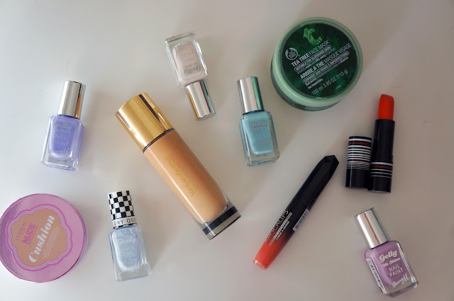 Beauty, Spring, Summer, Foundation, Nail Polish, Lipstick, Mask, YSL, Body Shop, Rimmel, Barry M