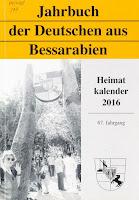 coperta carte Jahrbuch der Deutschen aus Bessarabien