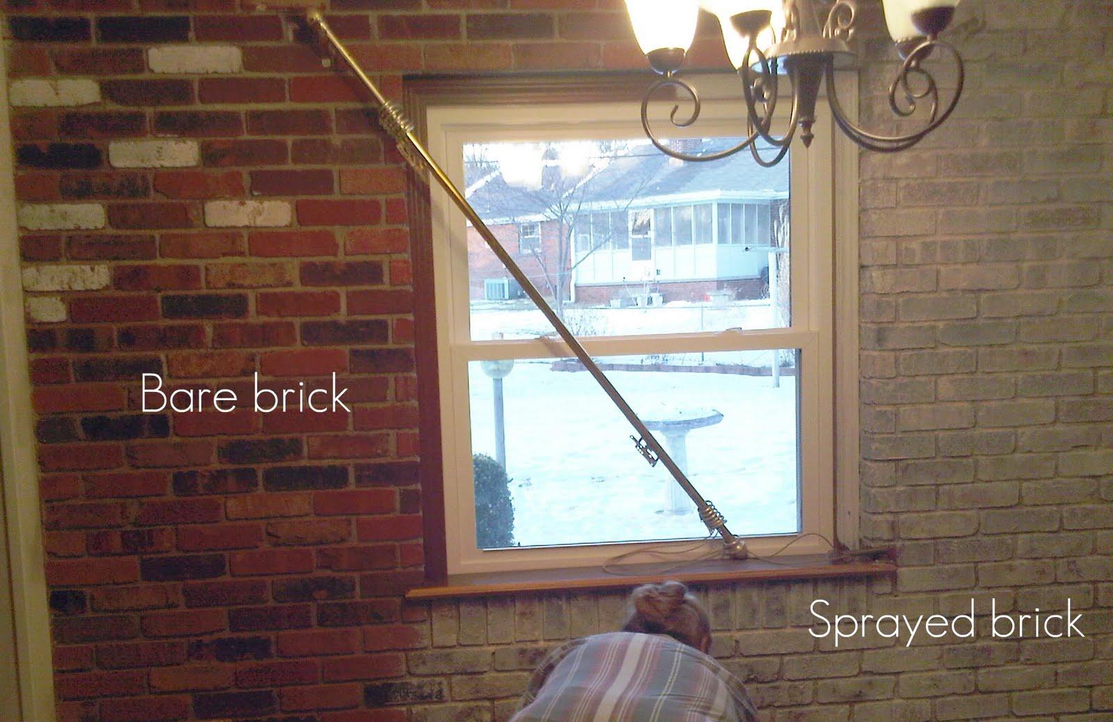 How to Spray Paint Brick Walls on Brick Painting Ideas  id=50106