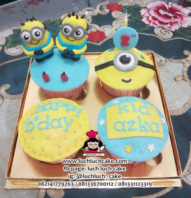 Cupcake Fondant 3D Minion Lucu