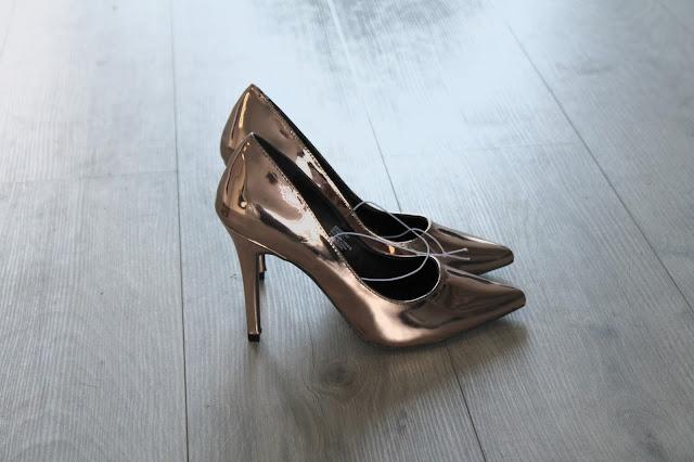 Rosé gouden pumps Primark Amsterdam shoplog Zeeuws modemeisje
