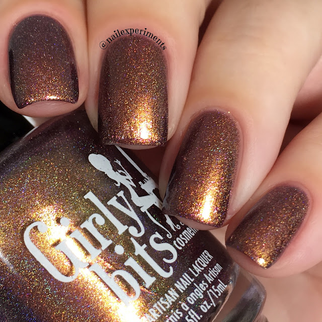 girly bits turducken swatch november 2017 cotm colour of the month swatch and review