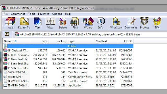 Aplikasi Tes SBMPTN 2015/2016/2017