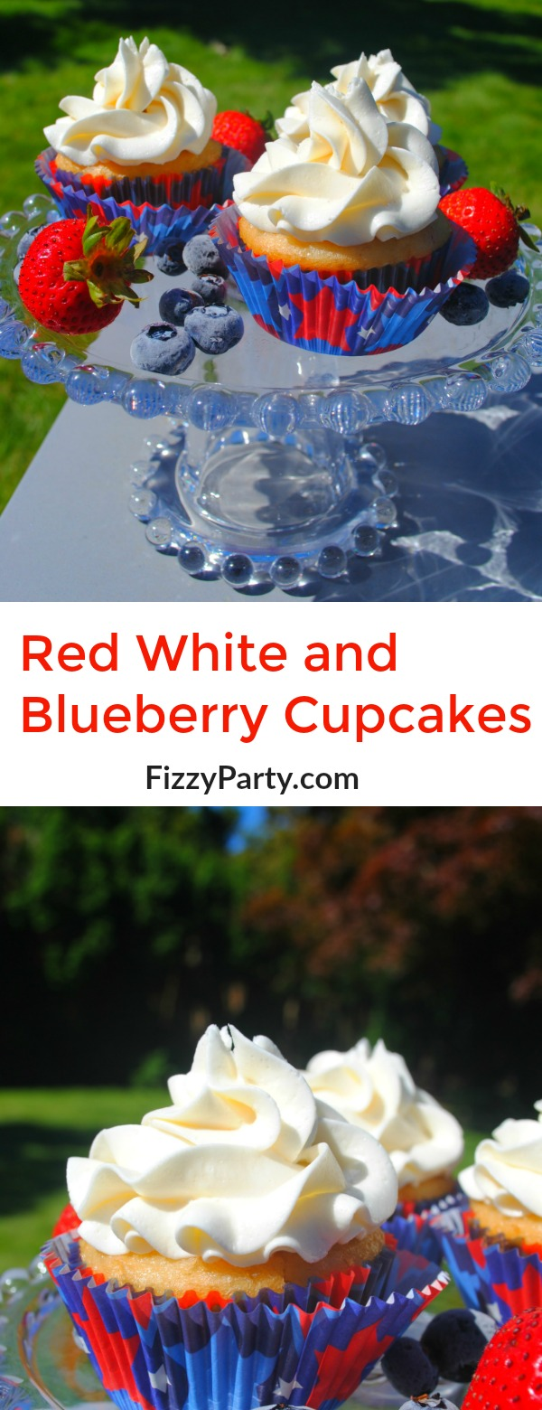 Red White and Blueberry cupcakes