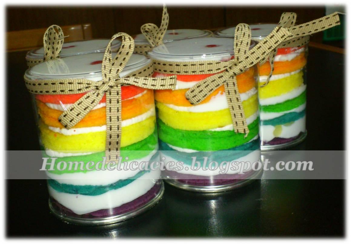 Resep Cake In Jar Rainbow: Homedelicacies: Rainbow Jar Cake