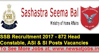 ssb-872-constables-Recruitment-2017