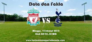 Data dan Fakta Fantasy Premier League GW 26 Liverpool vs Tottenham Fantasi Manager Indonesia