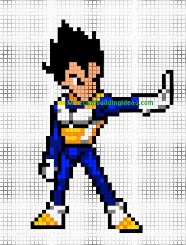 Pixel Art Dragon Ball Super Facile
