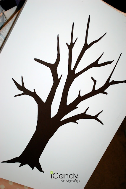 Tree design on posterboard
