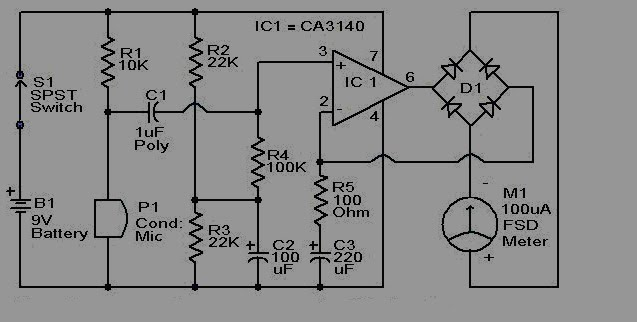 home audio sound level meter circuit