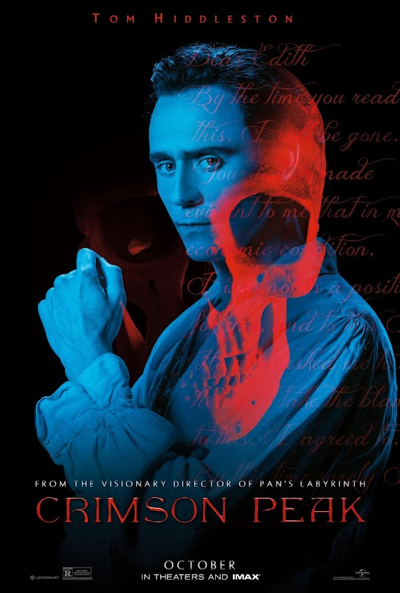 Tom Hiddleston ilustra novo pôster de A Colina Escarlate (Crimson Peak)