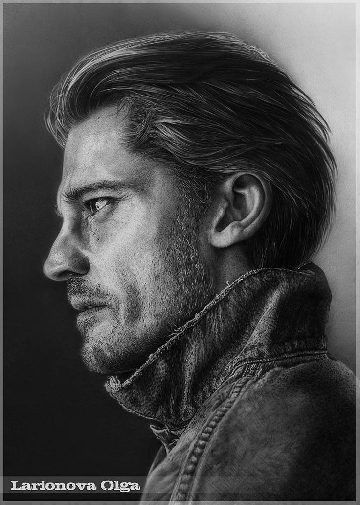 02-Nikolaj-Coster-GOT-Olga-Larionova-Melamory-Realistic-Black-and-White-Portraits-of-Celebrities