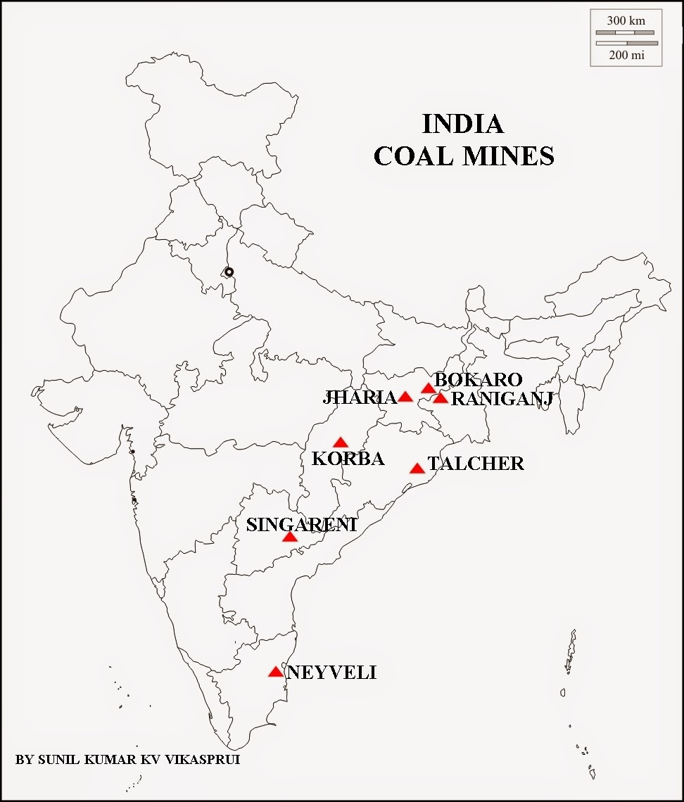 Geography and We: MAP WORK COAL MINES