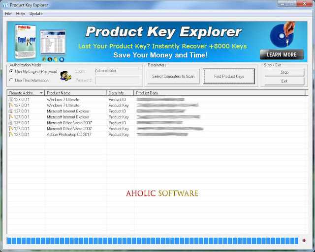 Product Key Explorer instantly recover and backup all your product keys.