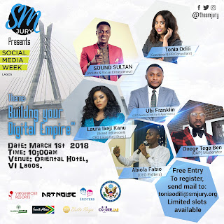 Laura Ikeji, Sound Sultan, Tonia Odili Amongst Others To Speak At The Sm Jury (@Thesmjury)