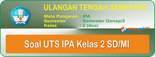 Mata Pelajaran IPA Terbaru yang disertai dengan kunci jawaban dan dapat di download denga Soal UTS 2 IPA Kelas 2 SD/MI Terbaru dan Kunci Jawaban