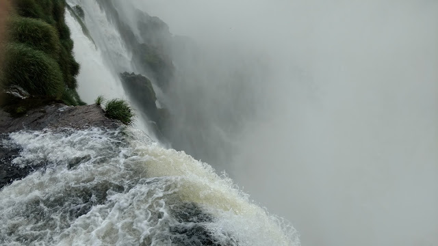 plummeting water- Iguazu Falls