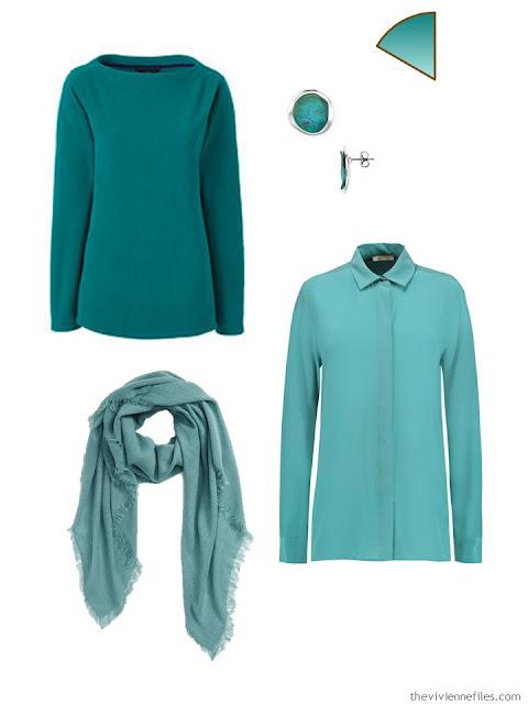 jade capsule wardrobe accents