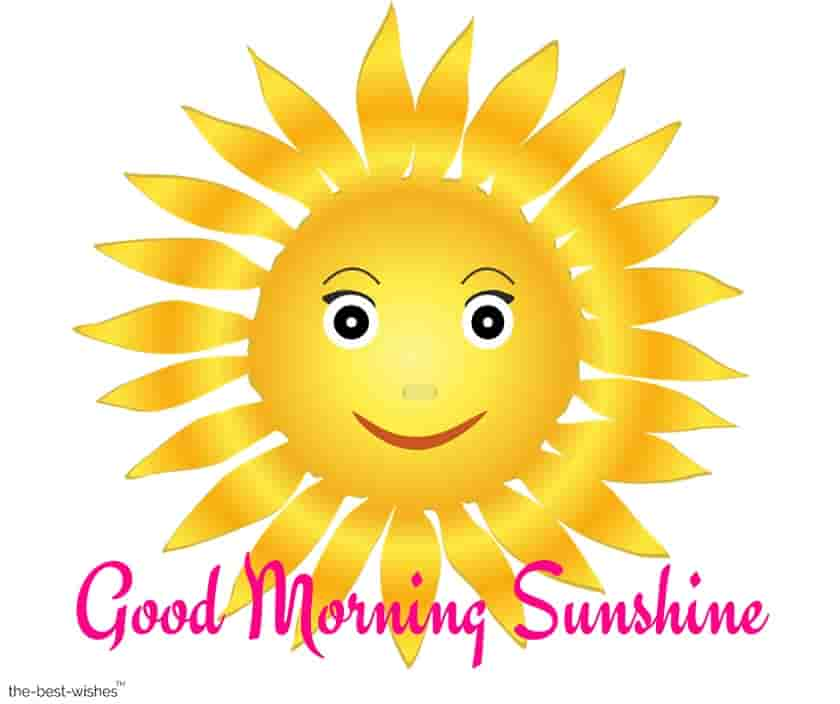 good morning sunshine with sun face