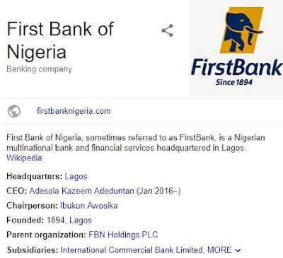 First Bank Internet Login & Mobile Banking App - 1st Bank ATM Locations in Nigeria