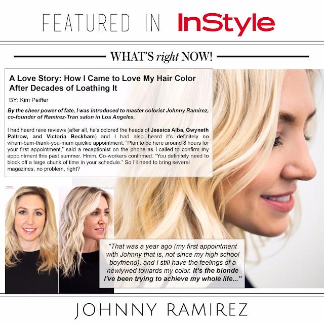 Johnny Ramirez, Ramirez Tran Salon, Instyle, press, PR, Johnny Ramirez Press, Instyle article