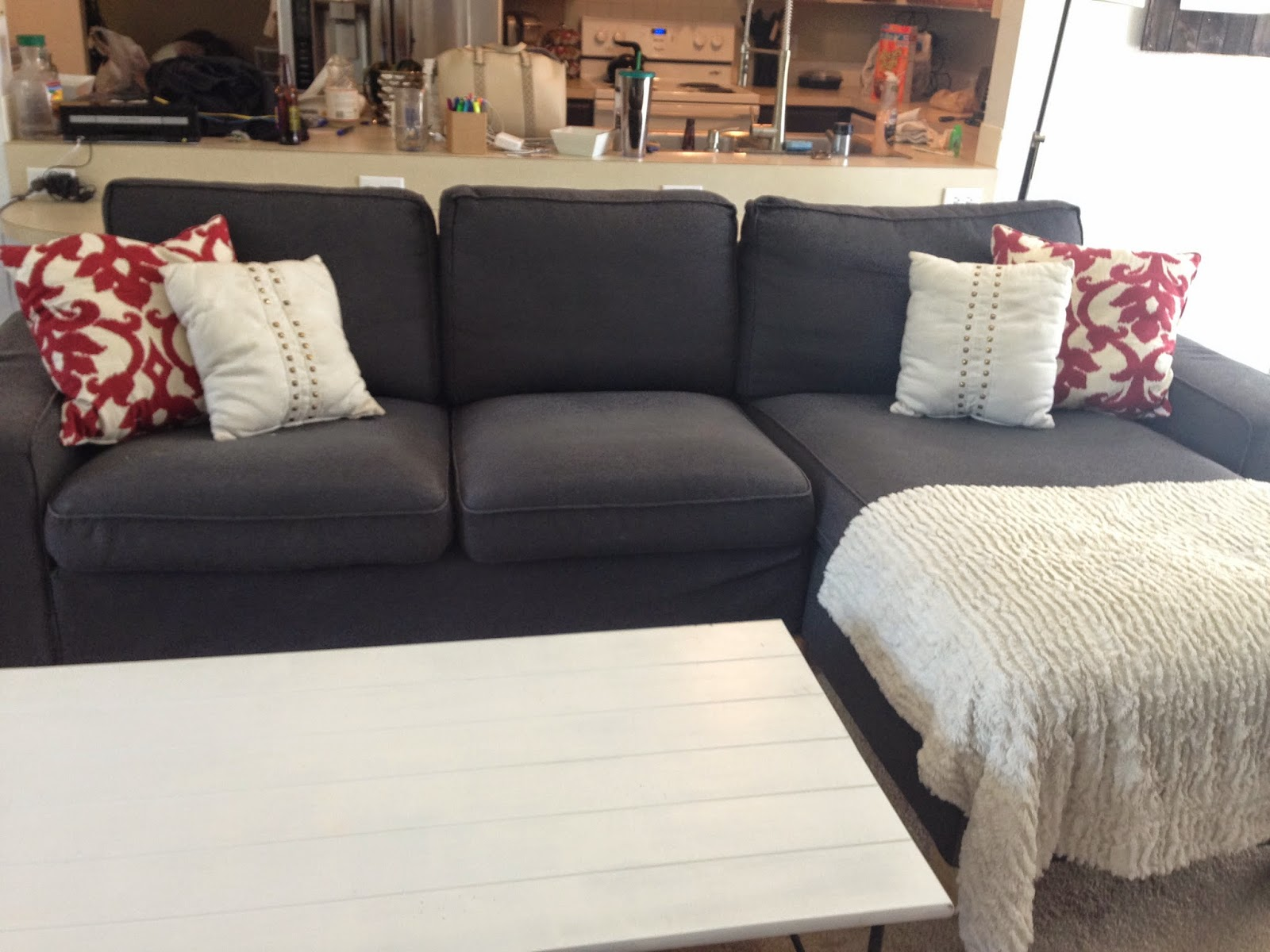 For The Most Part Minus That Stupid Wrinkle Couch Comes Together Nicely When Necessary Would We Purchase Another Kivik From Ikea Again