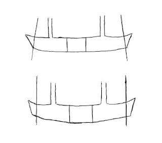 V shaped band on A shaped and tube shaped torso