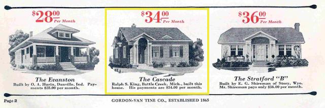 Gordon-Van Tine testimonial houses