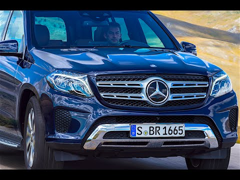 2016 Mercedes GLS 400 4MATIC blue exterior