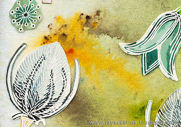 Layers of ink - Nature Art Journal Page by Anna-Karin with Paper Artsy Infusions